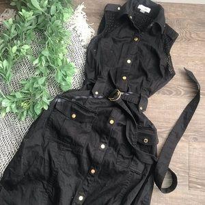Calvin Klein Black Button Dress